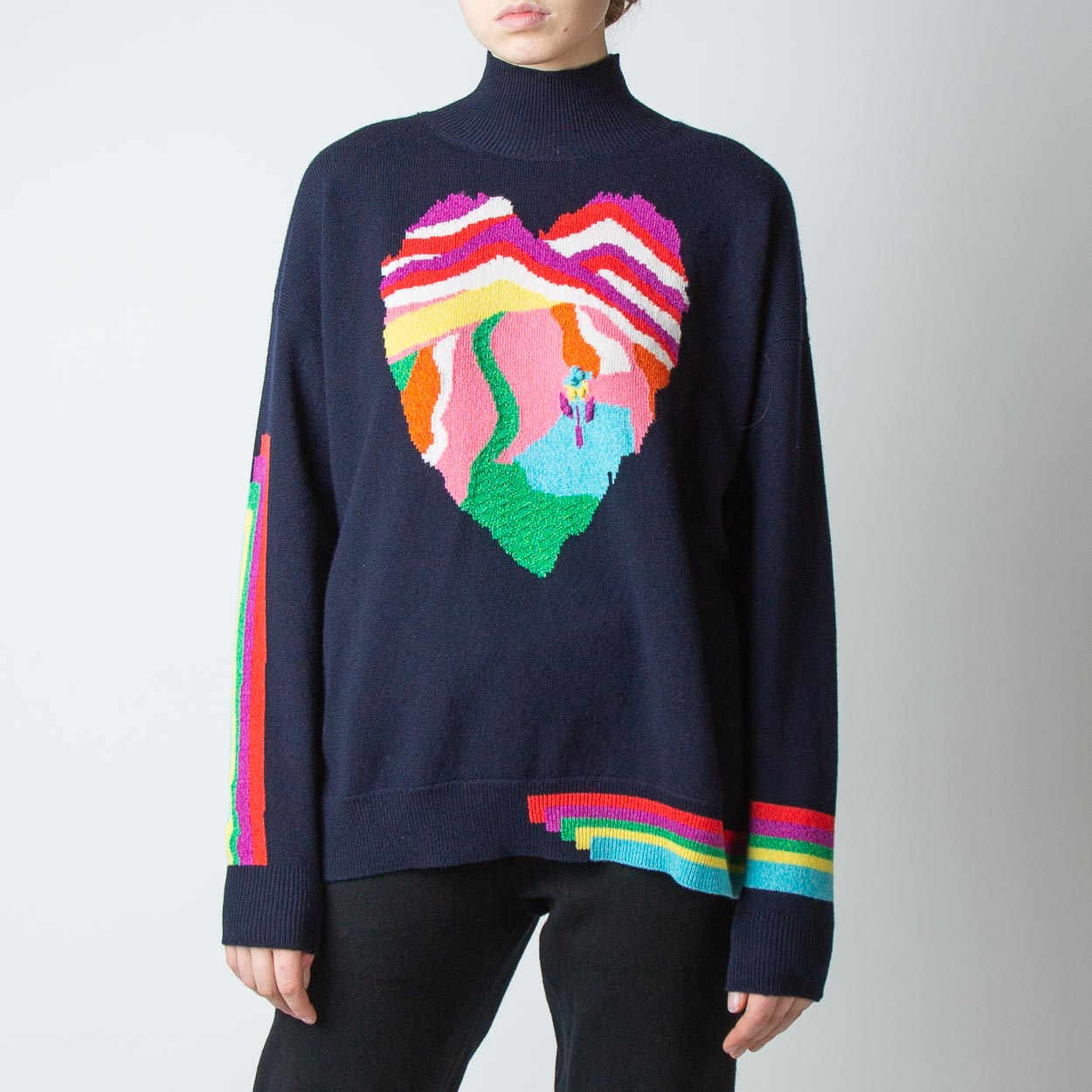 Heart Turtleneck Sweater