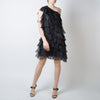 Abito Ruffle Sequin Dress