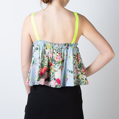 Floral-Ruffle Top