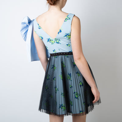 Blue Large Bow Dress