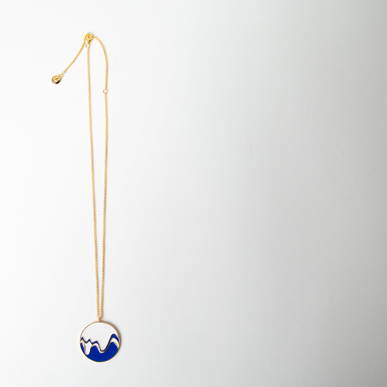 Waterline Enamel Necklace, black