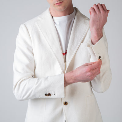 White Unstructured Sport Coat