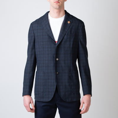 Navy Unstructured Sport Coat