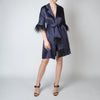 Eve Wrap Robe w/ Feather Trim
