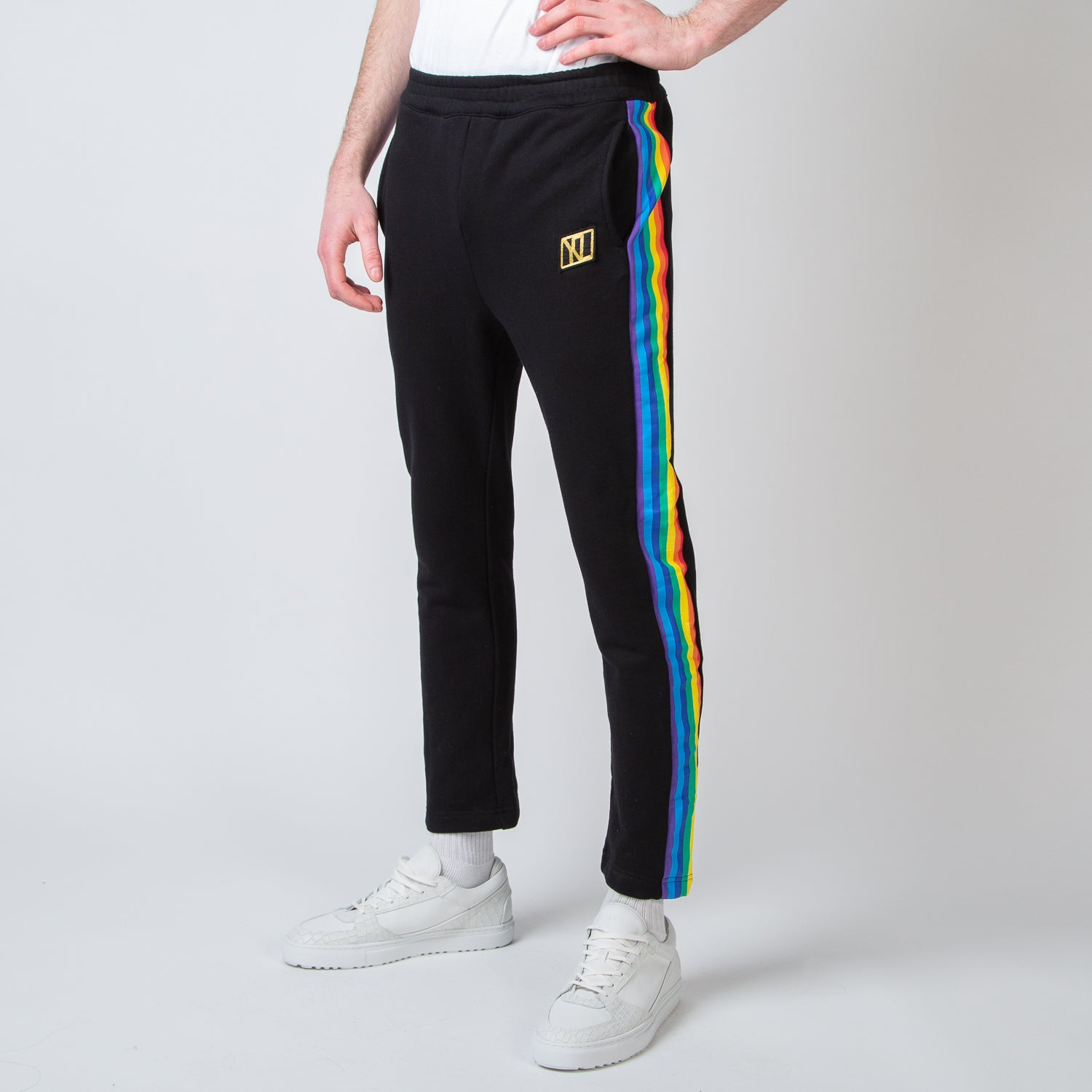 Rainbow Stripe Track Pants