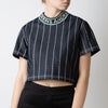 Andrea Collar Crop-Top