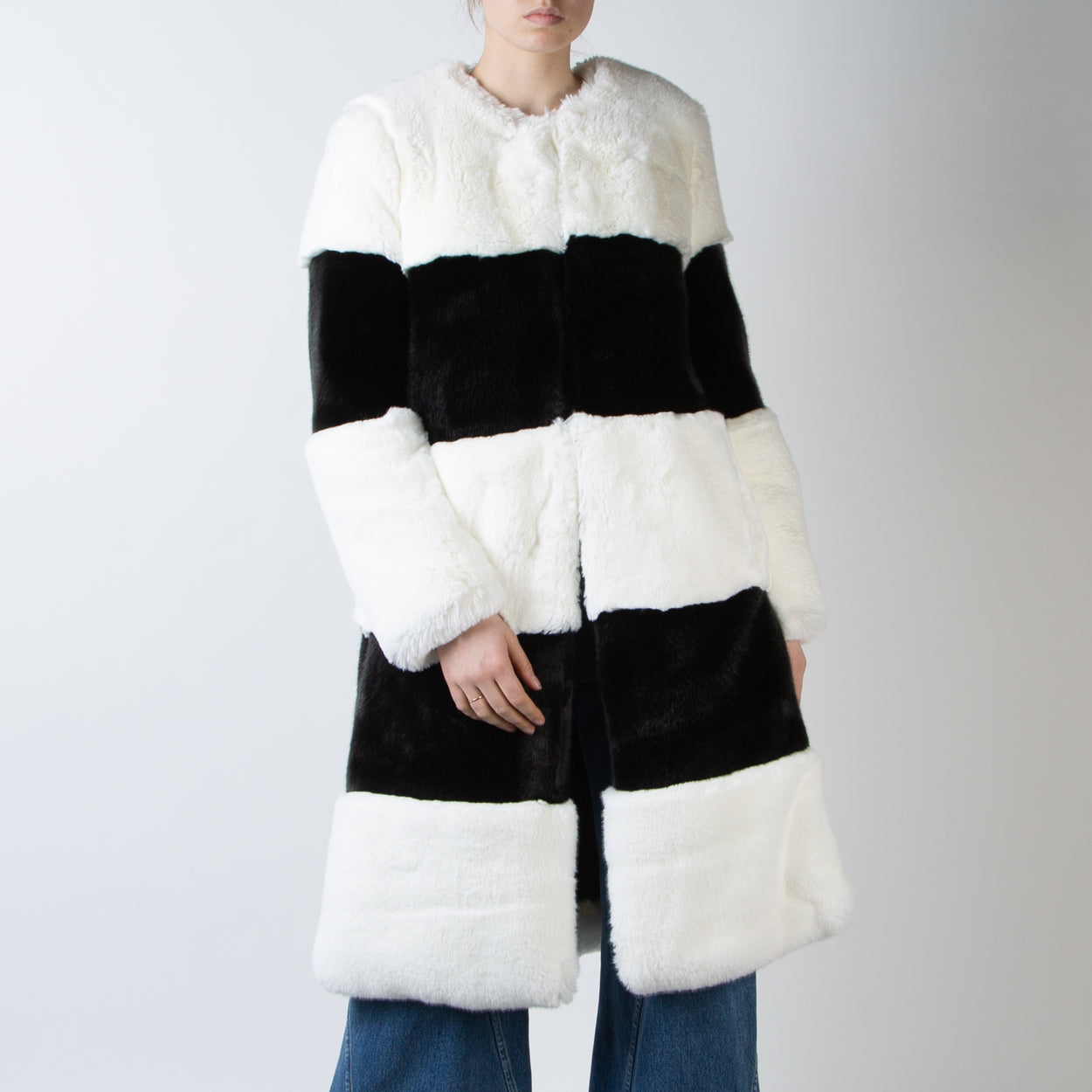 Ona Fur Coat, black & white