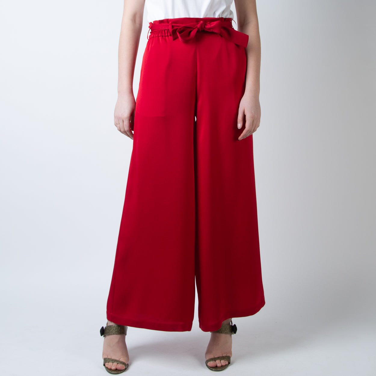 Paloma Bag Trousers, satin/crepe