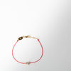 Infinite String Bracelet, red with yellow gold
