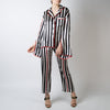 Striped Oversize Pajama Set