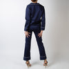 Pajama Set with Pants, royal blue