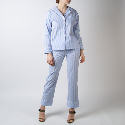 Pajama Set with Pants, french stripes