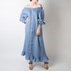 Loungewear Dress, moonstone blue