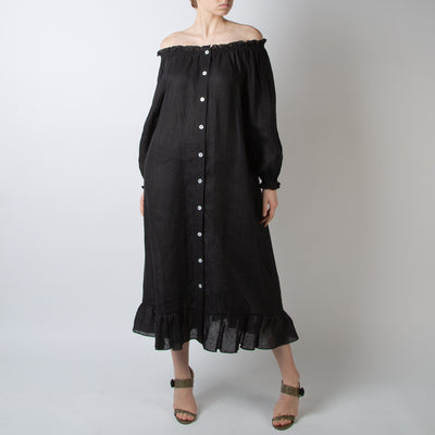 Loungewear Dress, coal black