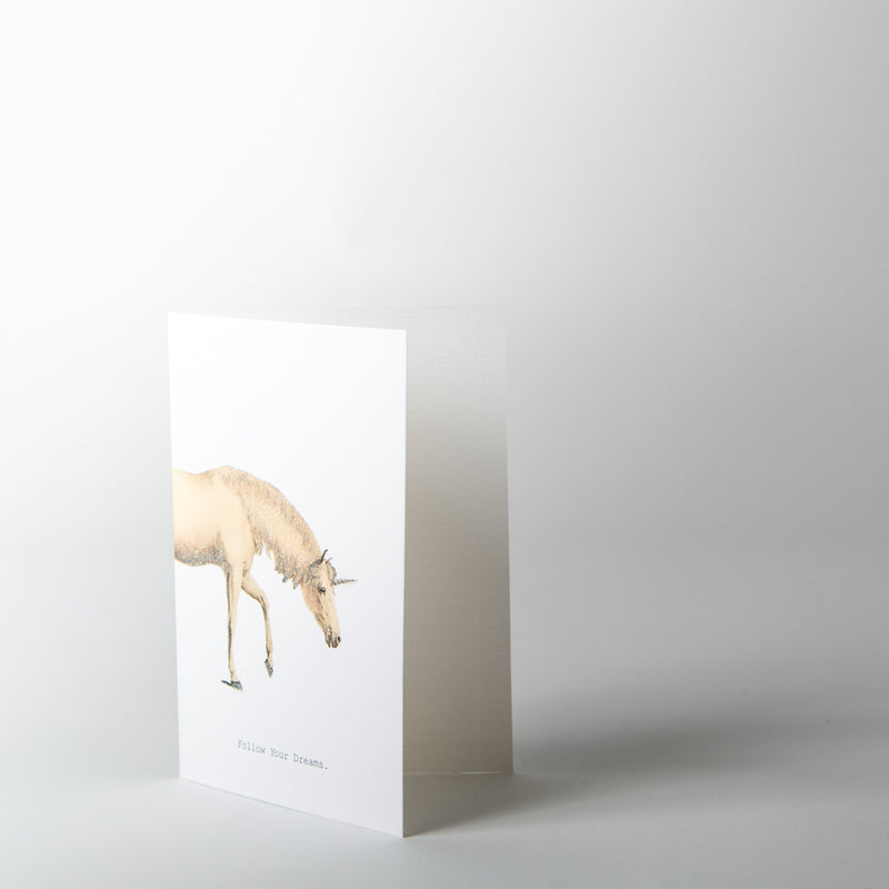 Follow Your Dreams Unicorn Greeting Card