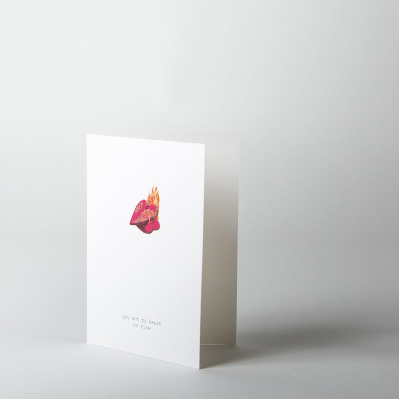 You Set My Heart On Fire Greeting Card