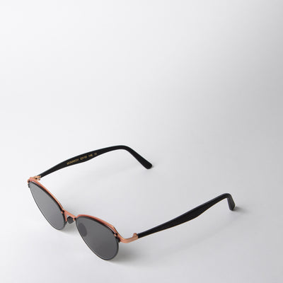 Monarch Sunglasses, copper & black