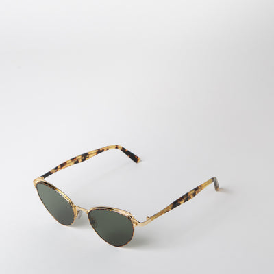 Monarch Sunglasses, gold & green
