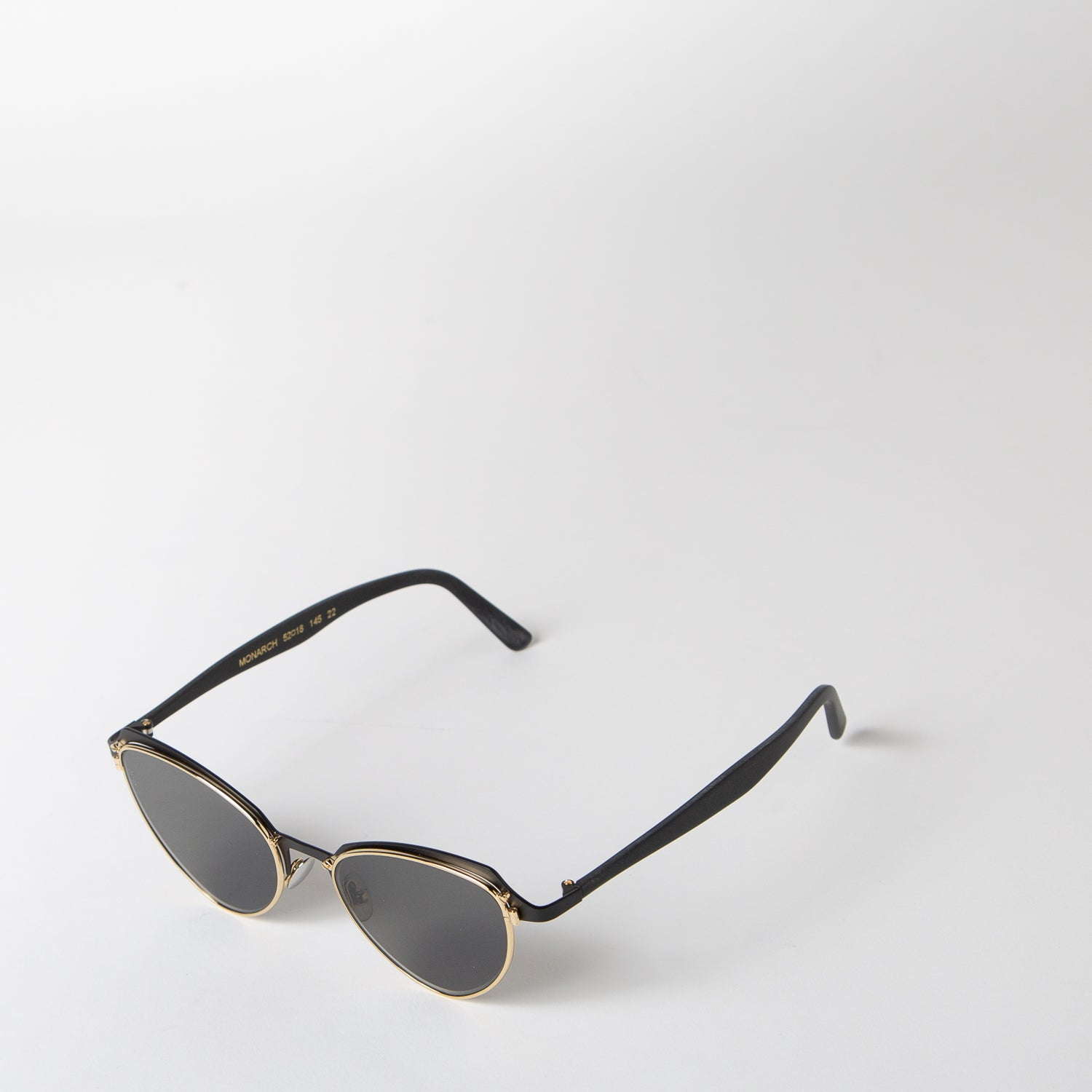 Monarch Sunglasses, black & grey