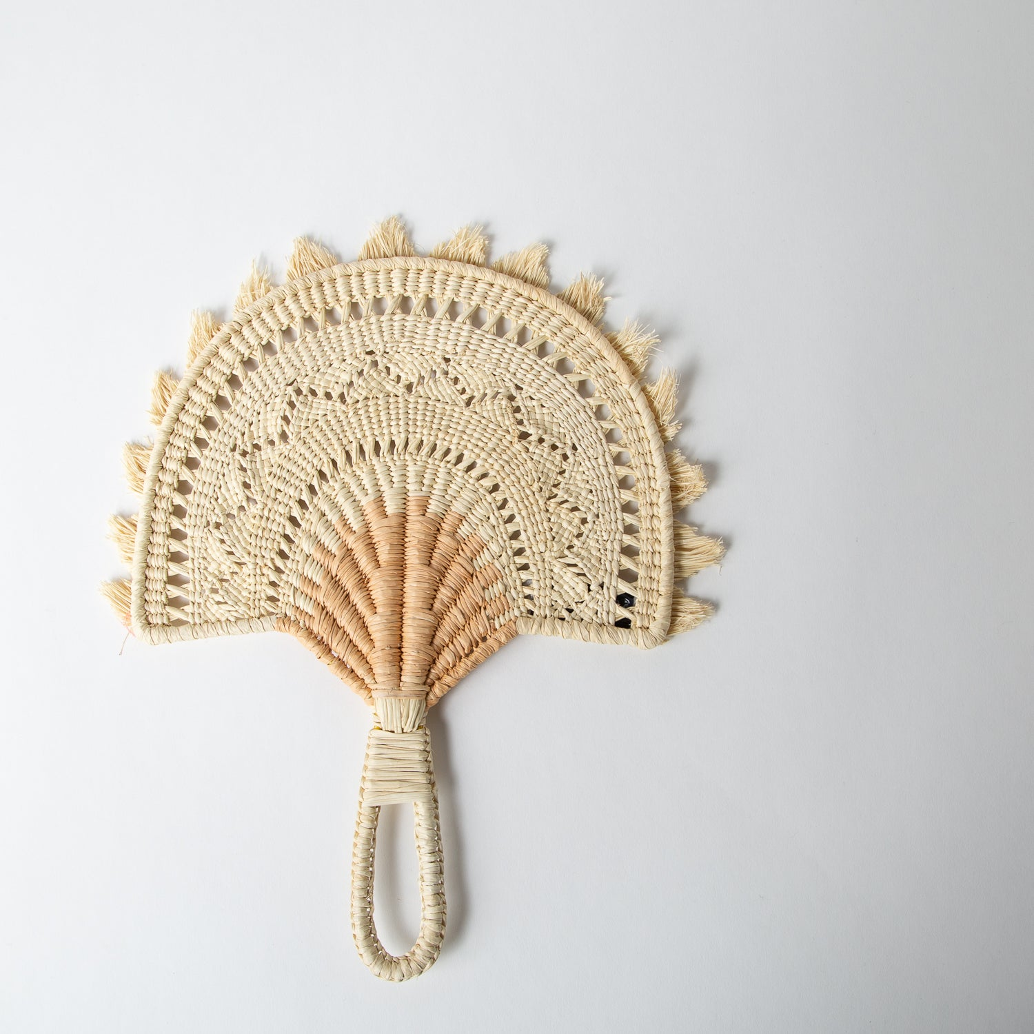 Cut Two-Tone Fan, beige