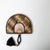 Two-Tone Tassel Fan, black/beige