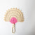 Cut Two-Tone Fan, pink