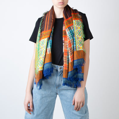 Mixed Pattern Rectangle Scarf