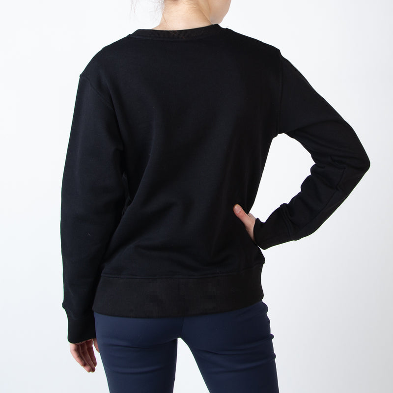 Black Albino Crew Sweater
