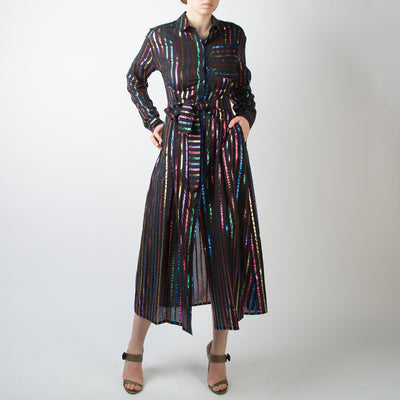 Multicolour Striped Dress