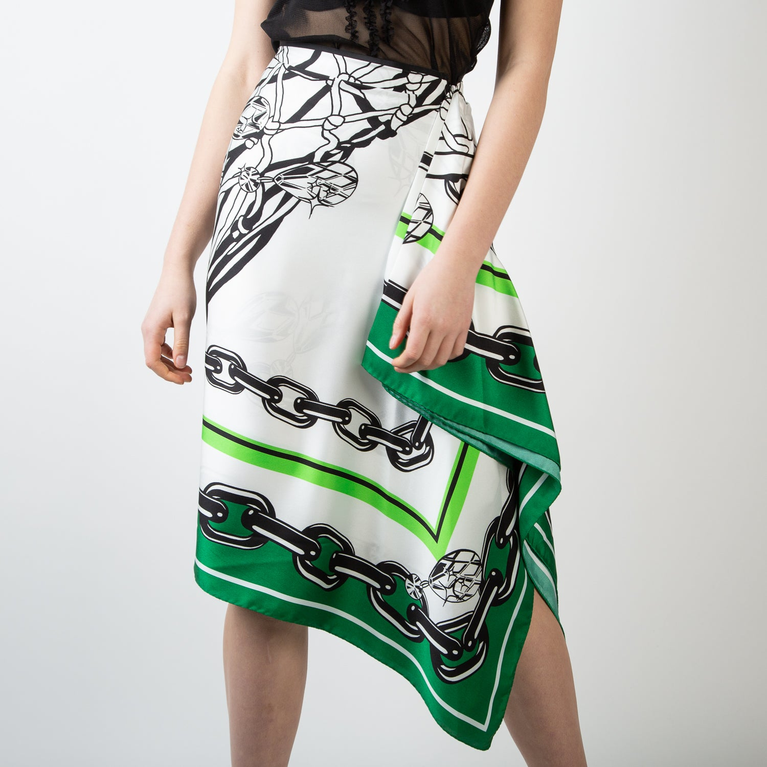 Green Scarf Skirt
