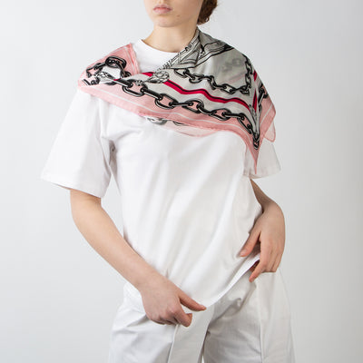 T-Shirt with Scarf Detail