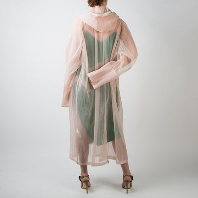 Peach Pleated Coat