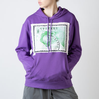 Patches Hoodie, purple