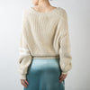 Open Neck Sweater, cream