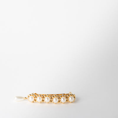 gold and pearl barette clips by Chabaux jewelry at Secret Location
