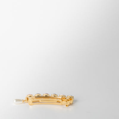 backside gold and crystal jewelled hair clip by Chabaux jewelry at Secret Location