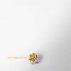backside purple and gold crystal hair pin by Chabaux at Secret Location