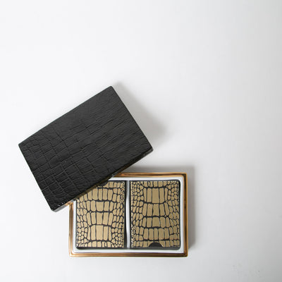 crocodile playing cards with cover by L'Objet at Secret Location