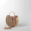 Woven Round Bag, gold hardware