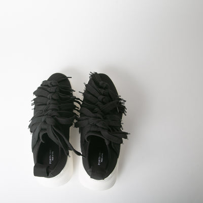 Black Lace Sneakers