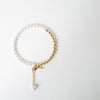 gold and pearl around choker by Joomi Lim