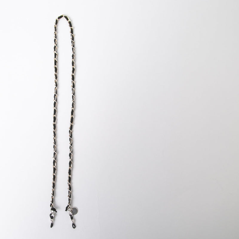 eyewear accessory in silver and black chain by SpecSet at Secret Location