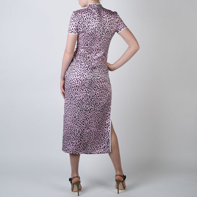 Leopard Mandarin Dress