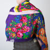 Floral Stripe Rectangle Scarf