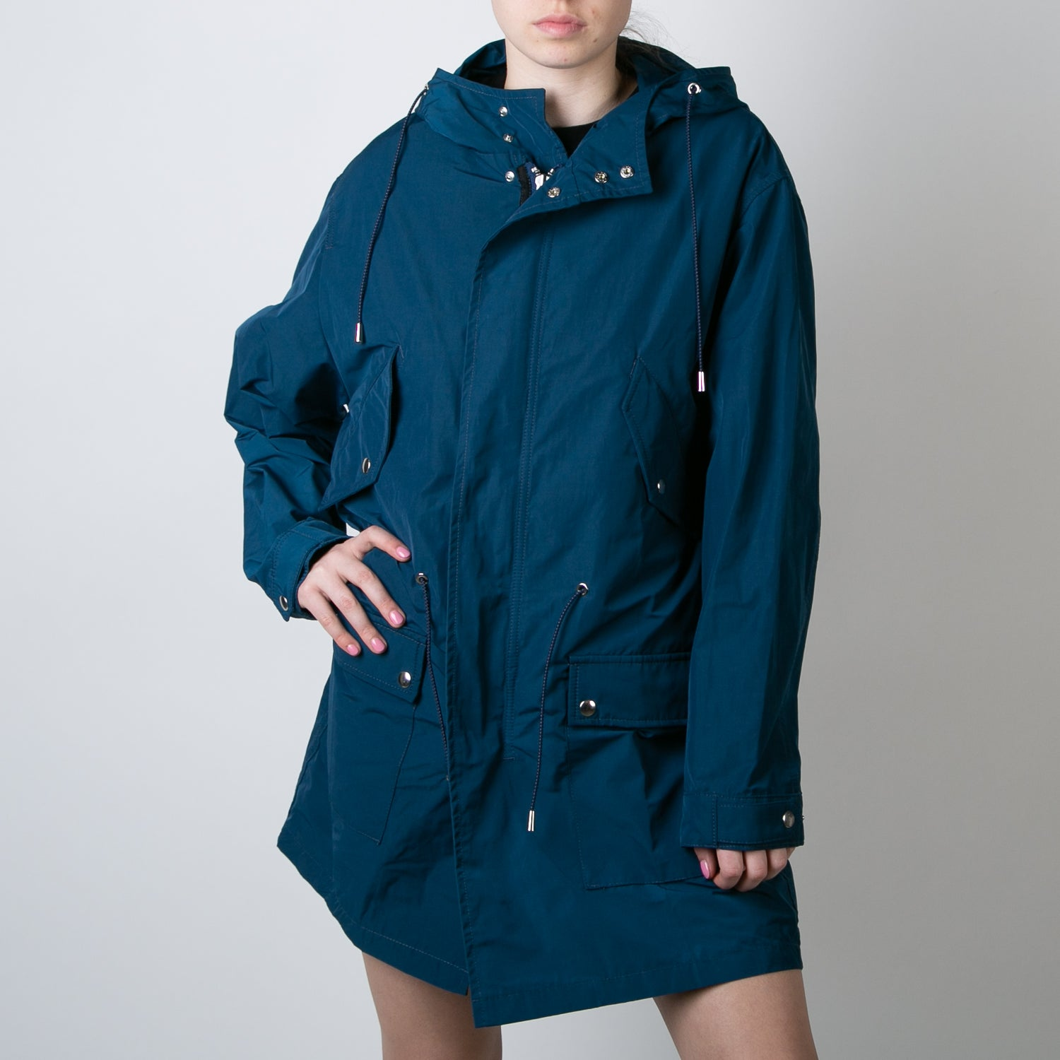 blue fishtail jacket by One Culture