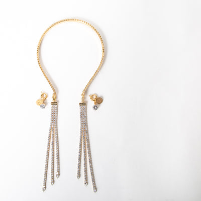 Crystal double headpiece jewelry with adjustable ends by Ellen Conde at Secret Location