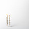 Crystal and gold dangle earring jewelry by Ellen Conde at Secret Location