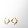 Crystal and gold reverse teardrop jewelry earrings by Ellen Conde at Secret Location
