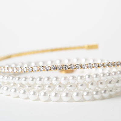 Pearl & Crystal covered gold choker by Ellen Conde at Secret Location