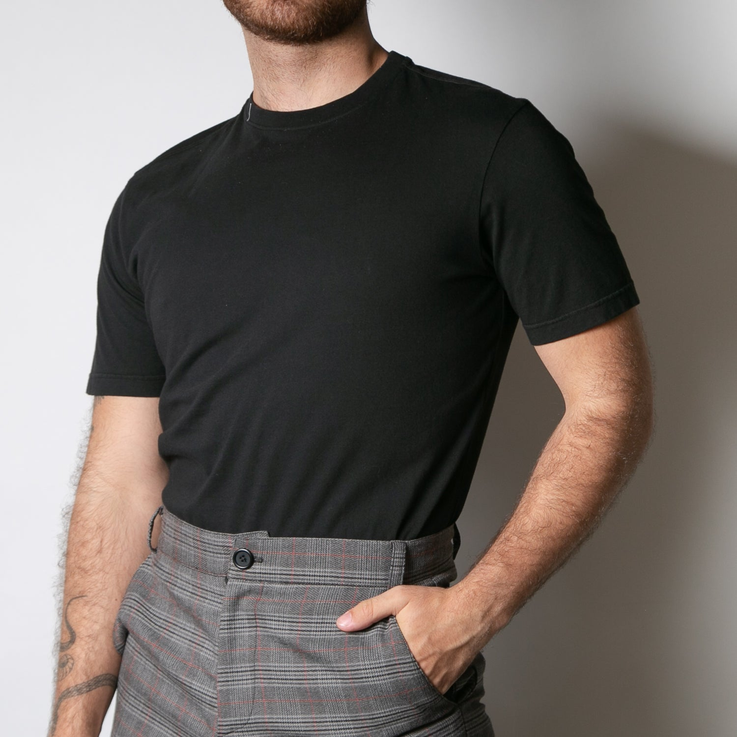 basic men's organic cotton black t-shirt by Secret Location